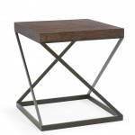 BERN Elements End Table Bark Finish