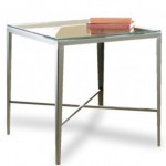CTHS Square Lamp Table with Glass Top
