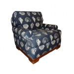 BRX Wailea Lounge Chair Navy Shells