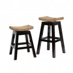 IBO Sushi Top Bar/ Counter Height Stool with Woven Seat