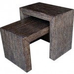 LAC Elephant Grass Side Tables