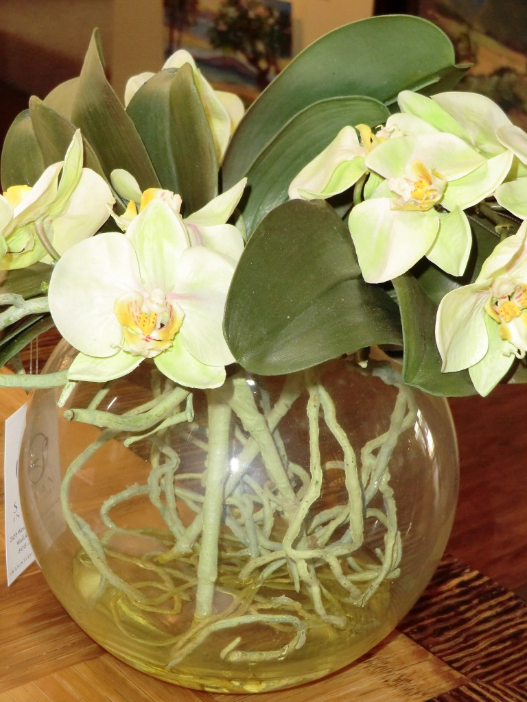 DIL Green Phalaenopsis in Glass Bubble Vase